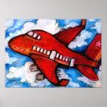 Poco aeroplano rojo poster