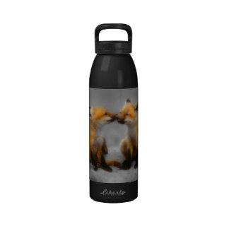 Poco amor del Fox Botella De Agua
