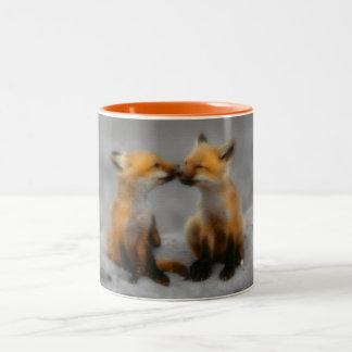 Poco amor del Fox Taza De Café