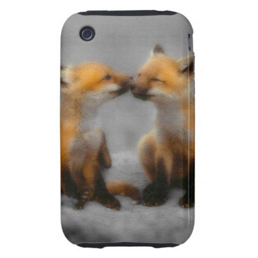 Poco amor del Fox Tough iPhone 3 Carcasas