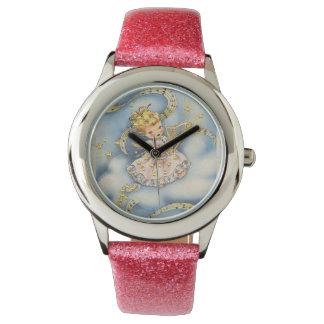 Poco ángel con su arpa relojes