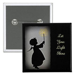 Poco ángel deja su brillo ligero pin