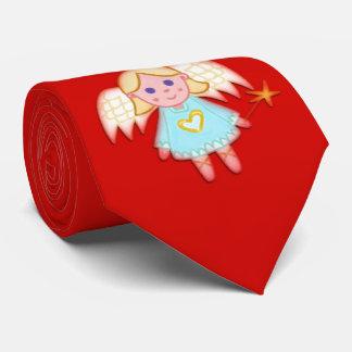 Poco ángel en rojo corbata personalizada