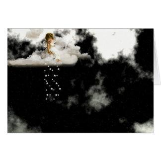 Poco ángel en una nube - tarjeta de cumpleaños