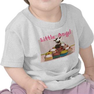 Poco ángel, magdalena y gato, torta de hadas camiseta