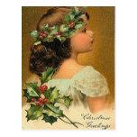 Poco ángel - tarjeta de felicitación del navidad tarjeta postal