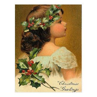 Poco ángel - tarjeta de felicitación del navidad tarjetas postales