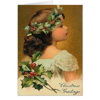 Poco ángel - tarjeta de Greeeting del navidad