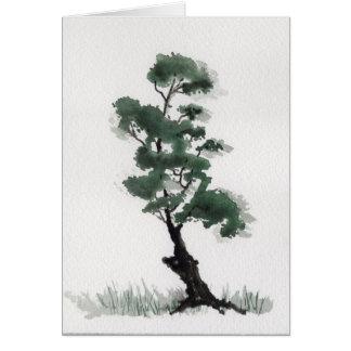 Poco árbol de abeto tarjeta de felicitación