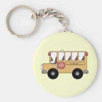 Poco autobús escolar llavero redondo tipo pin