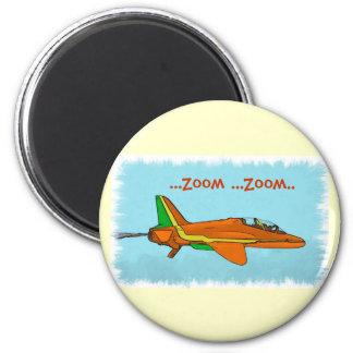 Poco avión de reacción imán redondo 5 cm
