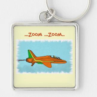 Poco avión de reacción llavero personalizado
