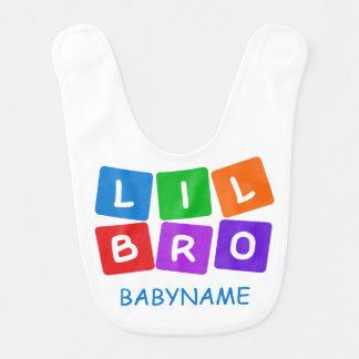 Poco babero de encargo del bebé de Bro