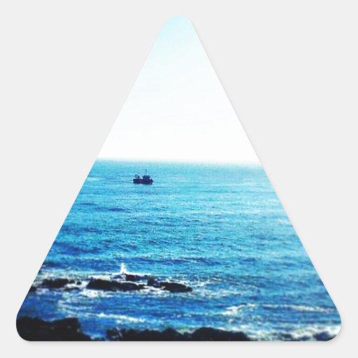 Poco barco pegatina triangular