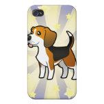 Poco beagle de la estrella iPhone 4/4S fundas