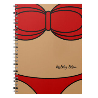 Poco bikini rojo cuaderno