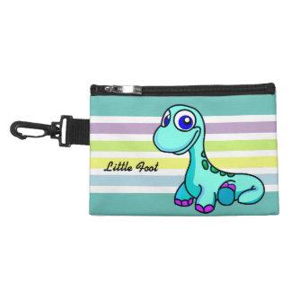 Poco bolso accesorio con clip del dinosaurio del