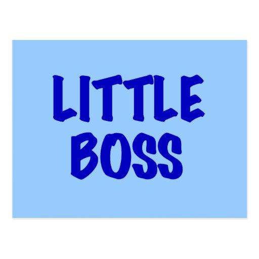 Poco Boss - camisetas y regalos azules Tarjeta Postal