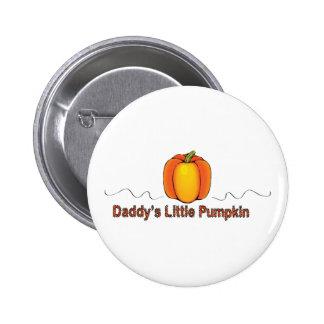 poco botón de la calabaza del papá pin