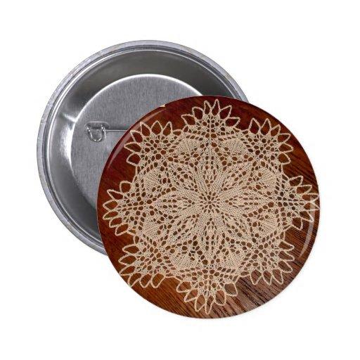 poco botón del tapetito de la flor pin redondo de 2 pulgadas