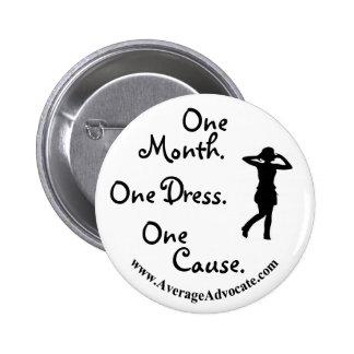 Poco botón negro del vestido (abogado medio) pin
