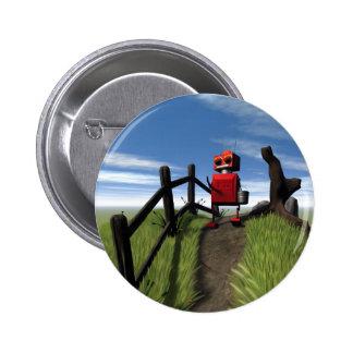 Poco botón rojo del robot