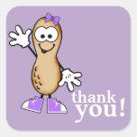 Poco cacahuete (púrpura) le agradece pegatina