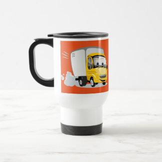 ¡Poco camión amarillo del dibujo animado para los Taza De Viaje De Acero Inoxidable
