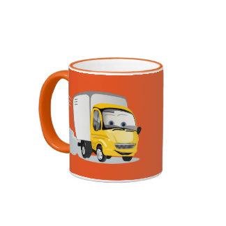 ¡Poco camión amarillo del dibujo animado para los Taza A Dos Colores