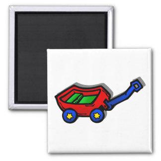 poco carro rojo iman para frigorífico
