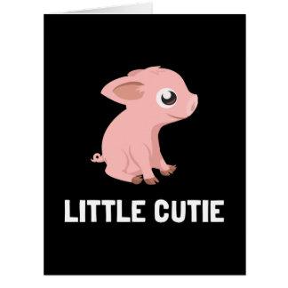 Poco cerdo de Cutie Tarjeta De Felicitación Grande