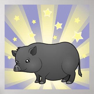Poco cerdo de la miniatura de la estrella póster