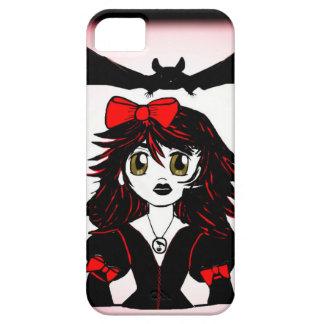 Poco chica de Halloween del gótico iPhone 5 Cárcasa