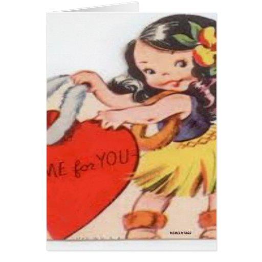 Poco chica de Hula yo para usted Tarjeta De Felicitación