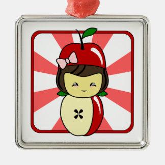 Poco chica de Kawaii Apple con las semillas Adornos