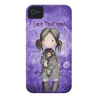 Poco chica del gótico con el caso del iPhone 4 del Case-Mate iPhone 4 Carcasa