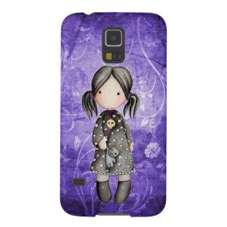 Poco chica del gótico con la caja de la galaxia S5 Carcasas Para Galaxy S5
