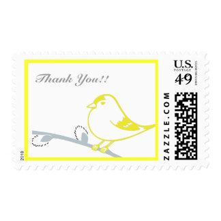 Poco chirrido sello postal