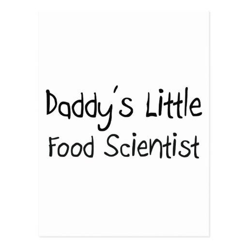 Poco científico de la comida del papá postales