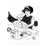 Poco cocinero tarjeta postal