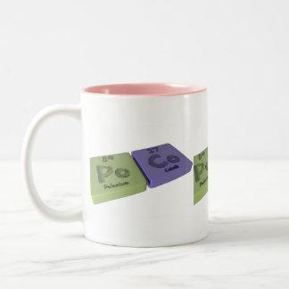Poco como polonio del Po y cobalto del Co Taza De Café