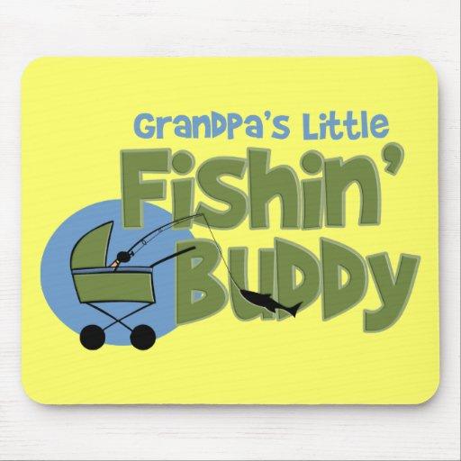 Poco compinche de Fishin del abuelo Tapetes De Ratones