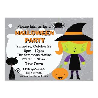 """Poco con el fiesta de Halloween Invitación 5"""" X 7"""""""