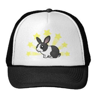 Poco conejo de la estrella (pelo liso del oído upp gorras de camionero