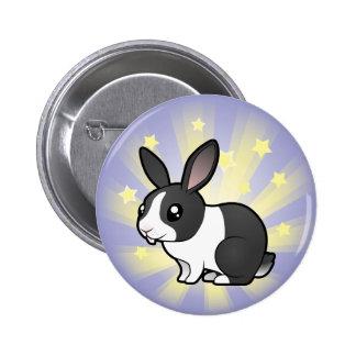 Poco conejo de la estrella (pelo liso del oído upp pins