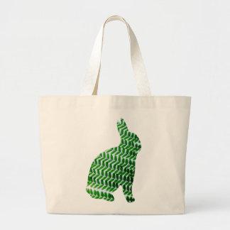 Poco conejo verde de las hojas bolsas de mano