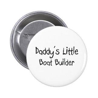 Poco constructor del barco del papá pin redondo 5 cm
