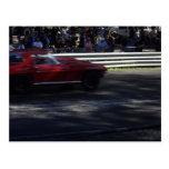Poco Corvette rojo Tarjeta Postal