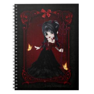Poco cuaderno del diseño 1 del chica del diablo de