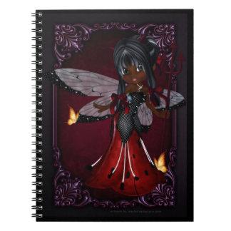 Poco cuaderno del diseño 4 del chica del diablo de